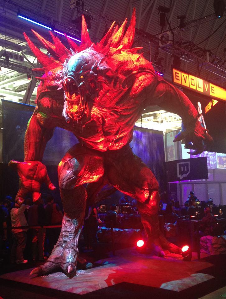 evolve goliath statue